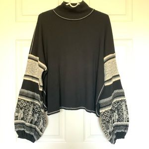 free people balloon arms sweater
